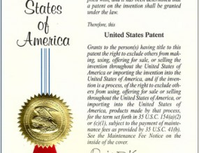 Patent of the United States